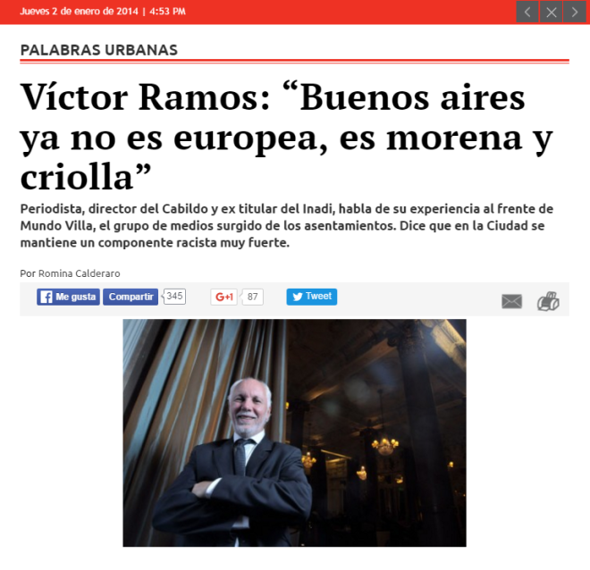 Victor ramos BS AS ya no es blanca 2014